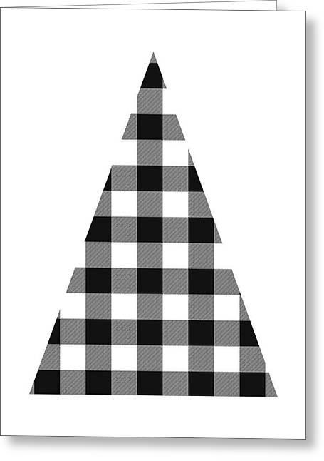 Modern Black And White Tree 2- Art By Linda Woods Greeting Card