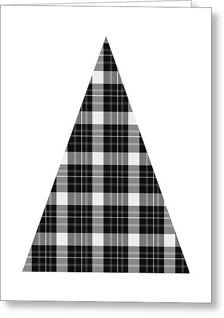 Modern Black And White Tree 3- Art By Linda Woods Greeting Card
