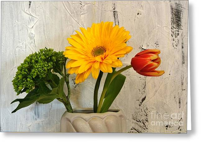 Greeting Card featuring the photograph Modern Bouquet by Marsha Heiken