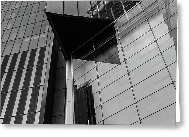 Modern Buildings Nyc Abstract Greeting Card by Edward Fielding