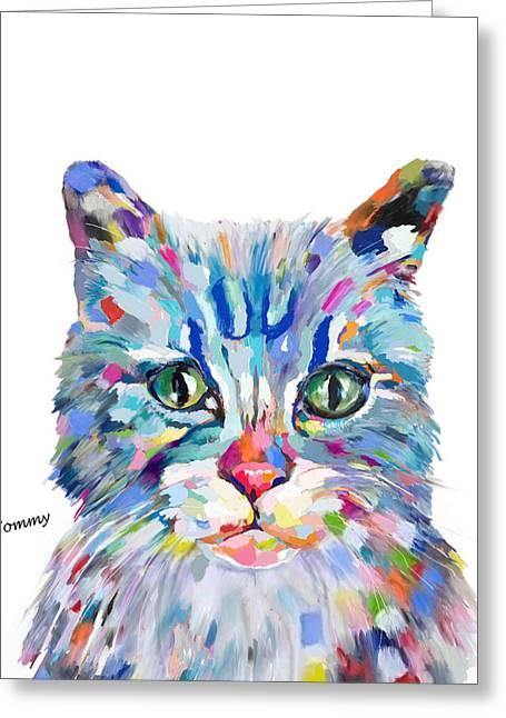 Modern Cat Greeting Card