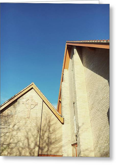 Modern Church Exterior Greeting Card by Tom Gowanlock