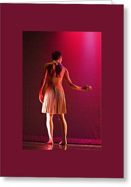 Greeting Card featuring the photograph Modern Dance 17 by Catherine Sobredo