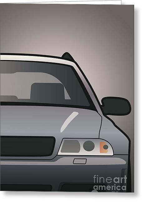 Modern Euro Icons Car Series Audi Rs4 A4 Avant Quattro B5 Split Greeting Card