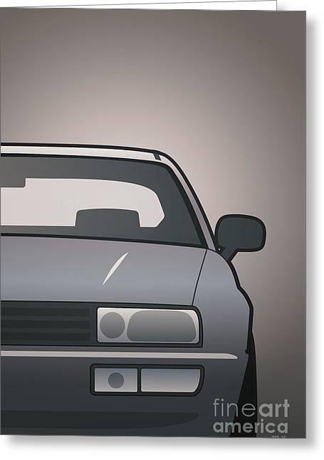 Modern Euro Icons Series Vw Corrado Vr6 Greeting Card by Monkey Crisis On Mars