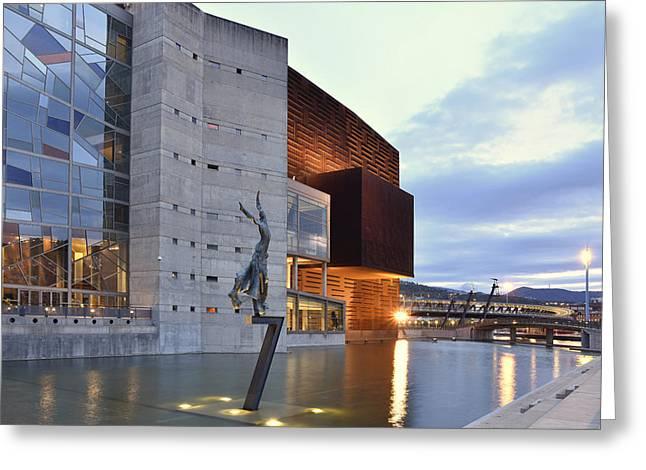 Modern Euskalduna Center Bilbao Greeting Card by Marek Stepan