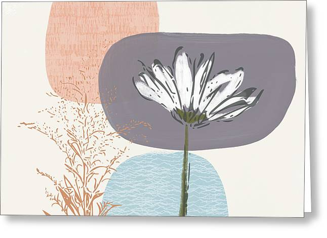 Modern Fall Floral 2- Art By Linda Woods Greeting Card