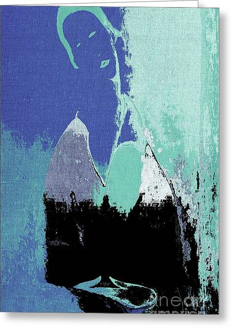 Abstract Portrait - 87t1dc7b Greeting Card