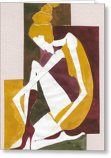 Modern Greek Goddess Greeting Card
