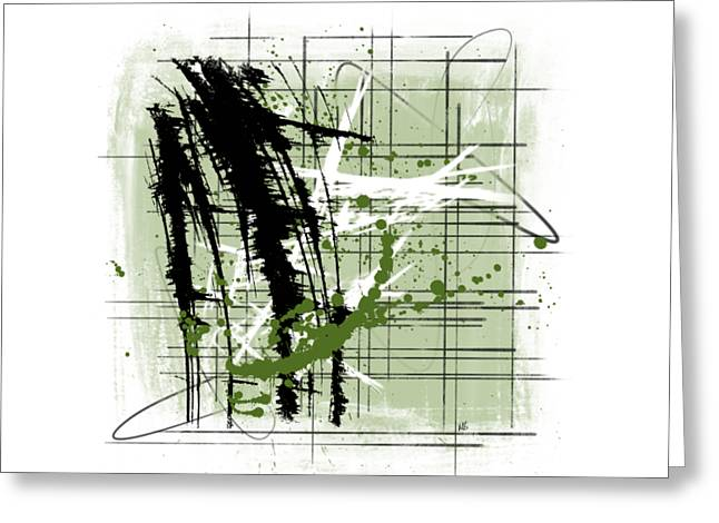 Modern Green Greeting Card by Melissa Smith