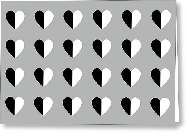 Modern Hearts- Art By Linda Woods Greeting Card