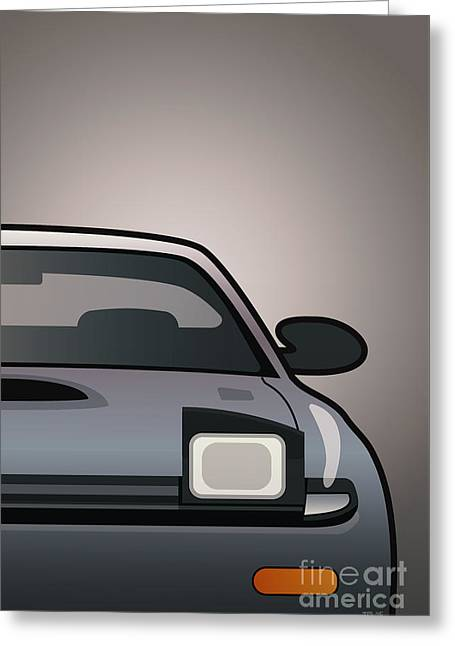 Modern Japanese Icons Series Toyota Celica  Gt-four All-trac Turbo St185 Split Greeting Card by Monkey Crisis On Mars