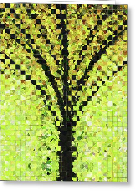 Modern Landscape Art - Pieces 10 - Sharon Cummings Greeting Card