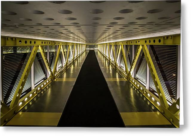 modern looking pedway in Chicago Greeting Card