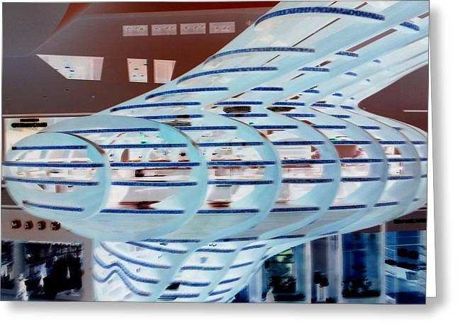 Ghostly Shopping Mall Greeting Card