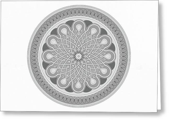 Modern Mandala Art - Flower Of Soul Greeting Card by Wall Art Prints