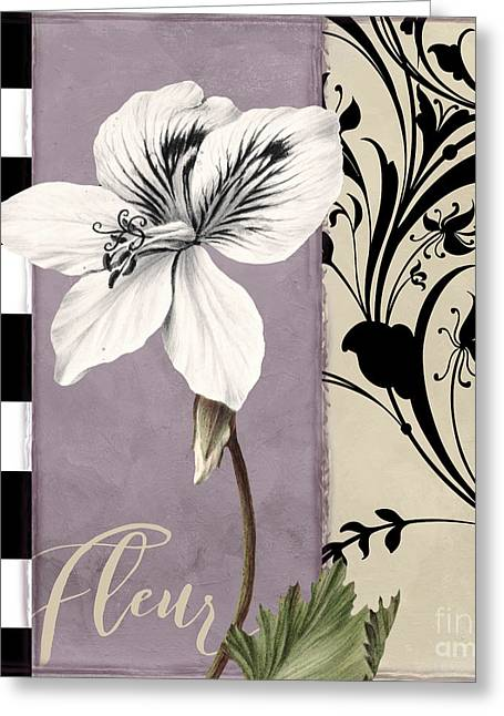 Modern Mauve Greeting Card by Mindy Sommers