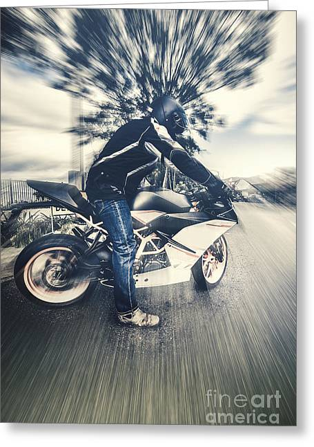Modern Motorcyclists Greeting Card