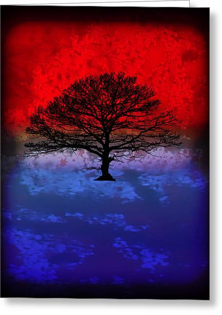 Modern Paintings Abstract Tree Wall Art Greeting Card by Robert R Splashy Art