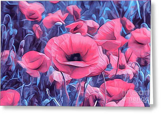 Modern Poppies Greeting Card