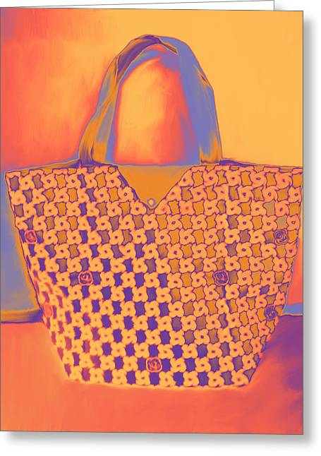 Modern Shopping Bag Greeting Card