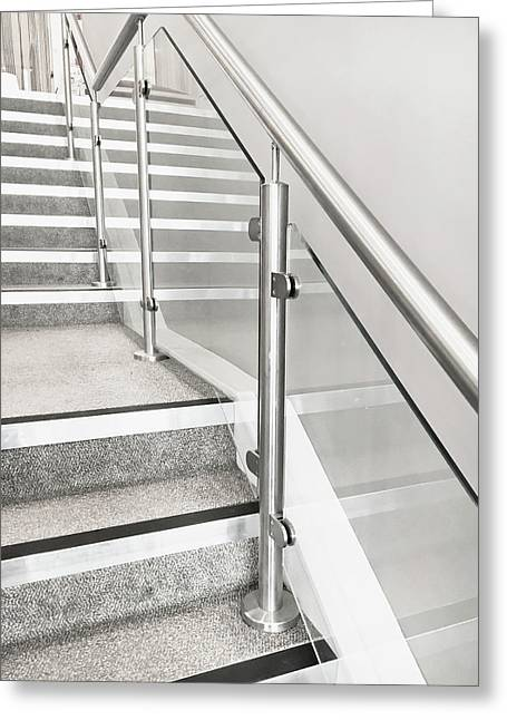 Modern Staircase Greeting Card by Tom Gowanlock
