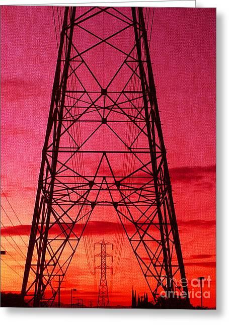 Modern Sunset Greeting Card