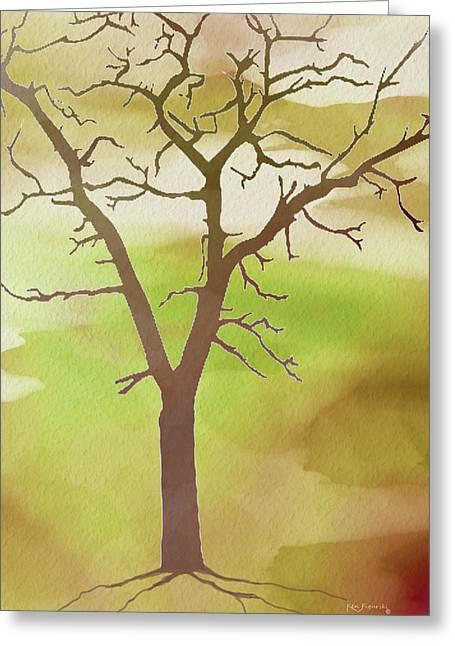 Modern Tree Art Greeting Card