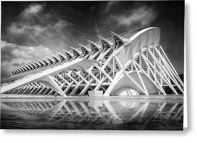Modern Valencia In Black And White  Greeting Card
