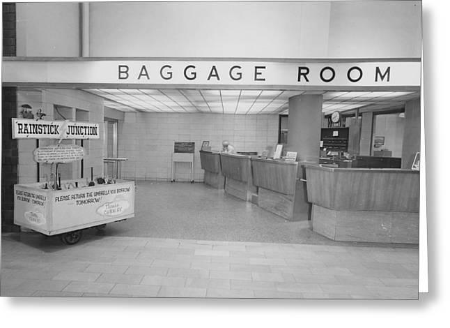 Baggage Room At Chicago Passenger Terminal Greeting Card