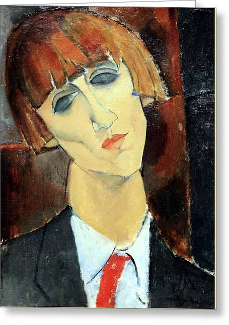 Modigliani's Madame Kisling Greeting Card