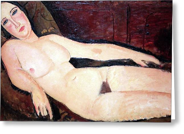 Modigliani's Nude On A Divan Greeting Card