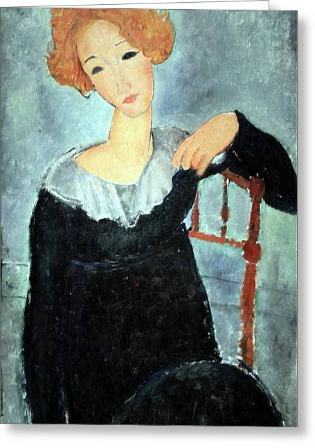 Modigliani's Woman With Red Hair Greeting Card