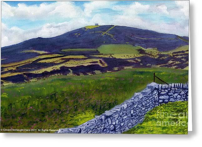 Moel Famau Hill Painting Greeting Card by Edward McNaught-Davis
