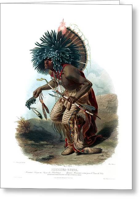 Moenitarri Warrior In The Costume Of The Dog Wall Art Prints Greeting Card