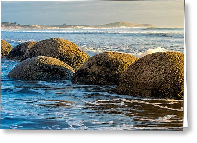 Moeraki Boulders Greeting Card by Martin Capek