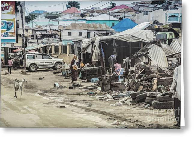 Mogadishu Markets Greeting Card by Lemmi Pfeiffer