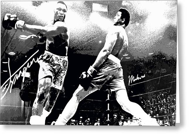 Mohamed Ali Float Like A Butterfly Greeting Card by Saundra Myles