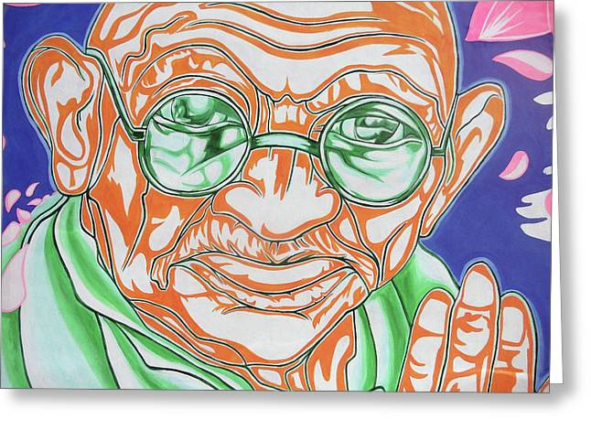 Mohandas Karamchand Gandhi  Greeting Card by Juergen Weiss