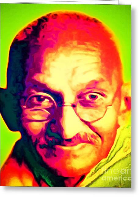 Mohatma Gandhi 20151230 Greeting Card