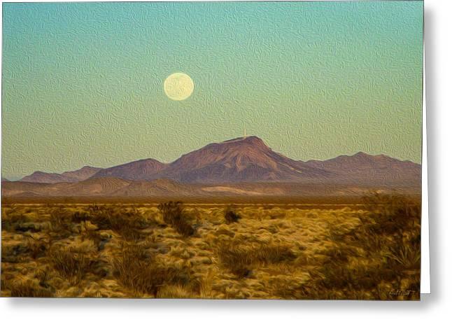Mohave Desert Moon Greeting Card