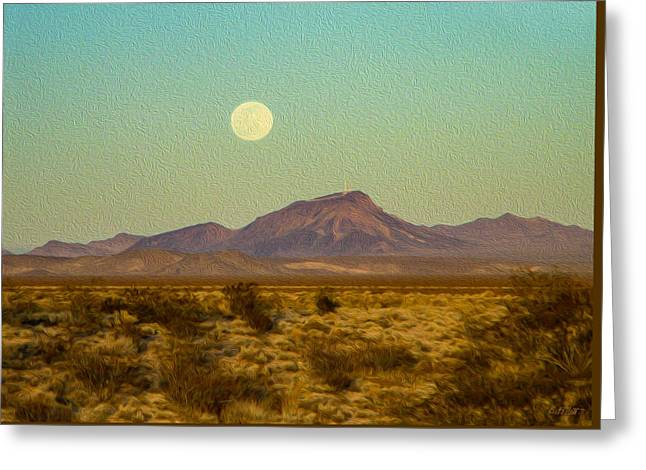 Mohave Desert Moon Greeting Card
