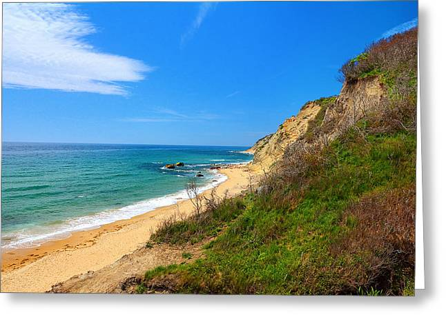 Mohegan Bluffs Block Island Greeting Card