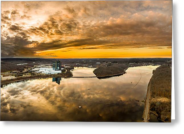 Greeting Card featuring the photograph Mohegan Sun Sunset by Petr Hejl