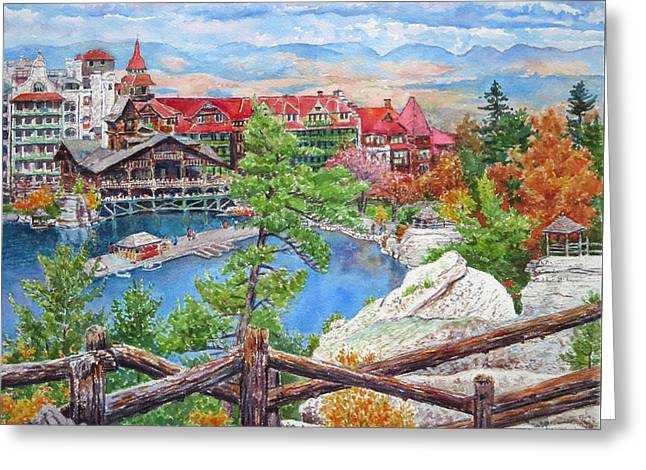 Mohonk Fall View From Cliffs Greeting Card by Mira Fink