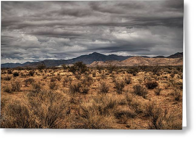 Greeting Card featuring the photograph Mojave Landscape 001 by Lance Vaughn