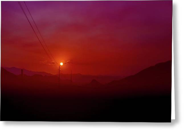 Mojave Sunrise Greeting Card