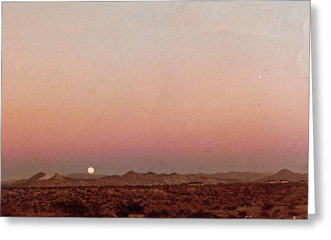Mojave Sunset Greeting Card