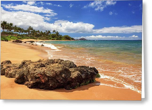 Mokapu Beach Maui Greeting Card by James Eddy