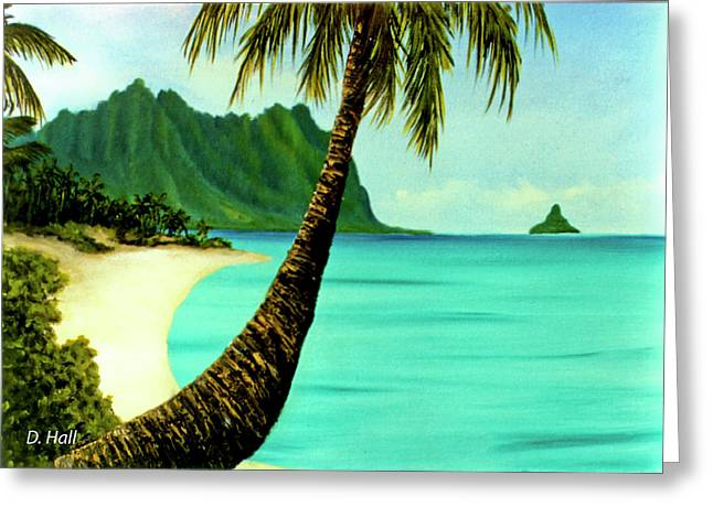 Mokolii Chinamans Hat Koolau Mountains #81 Greeting Card by Donald k Hall